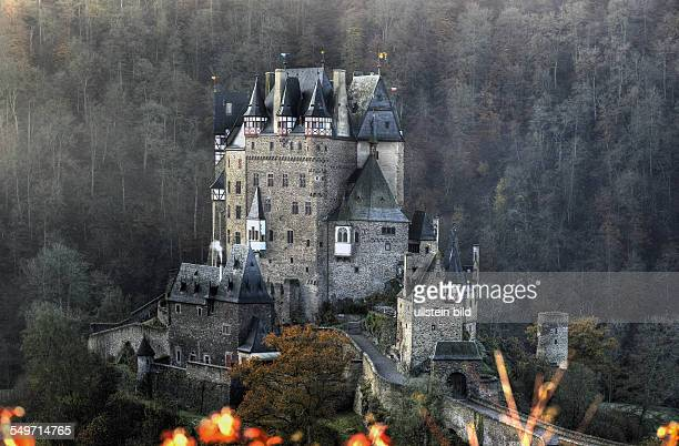 Castle Eltz in the valley of river Eltz