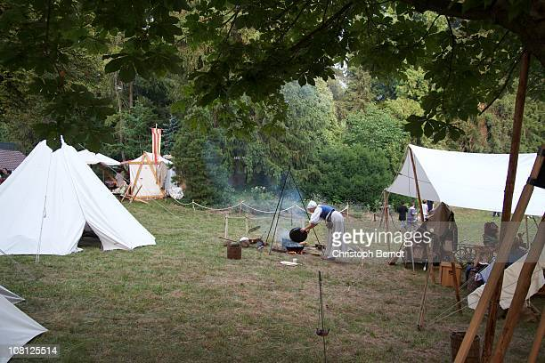 Castle festival, called 'Burgfest', in Obergrombach in July 2010, camp of tents