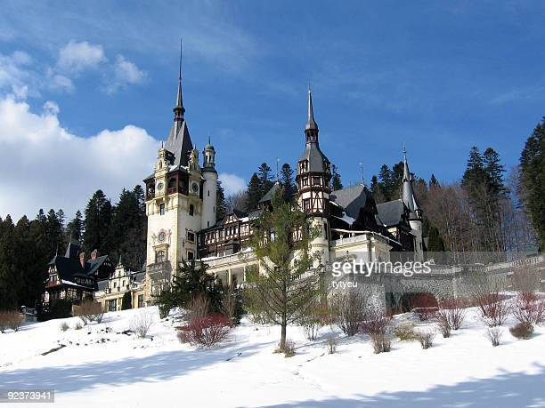 castle from sinaia, romania - transylvania stock pictures, royalty-free photos & images