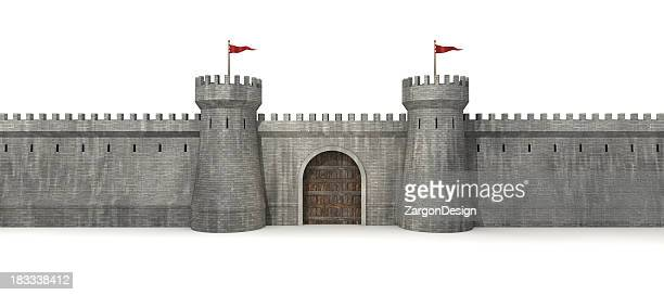 castle gate - chateau stock pictures, royalty-free photos & images