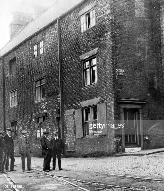 Castle Gate, Stockton. Preparations for the centenary of of the world's first passenger railway, opened in 1825 in Stockton. 5th June 1925.