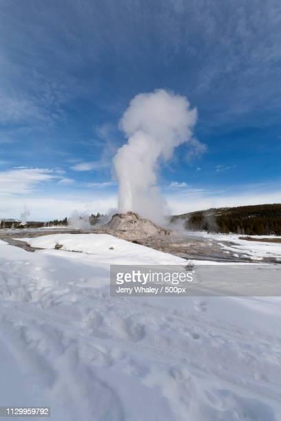 Castle Geyser Erupting, Yellowstone Np