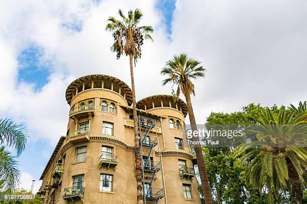 castle green hotel in pasadena, los angeles, california - pasadena - fotografias e filmes do acervo
