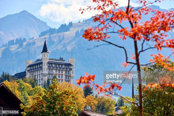 castle, gstaad, switzerland - gstaad stock pictures, royalty-free photos & images
