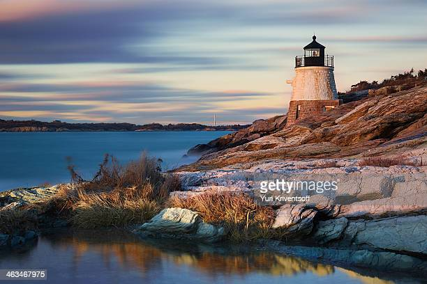 castle hill lighthouse - newport rhode island stock pictures, royalty-free photos & images