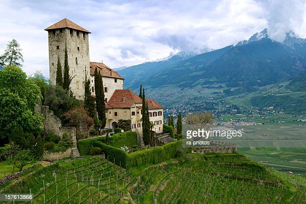 castle in south tyrol - alto adige italy stock pictures, royalty-free photos & images
