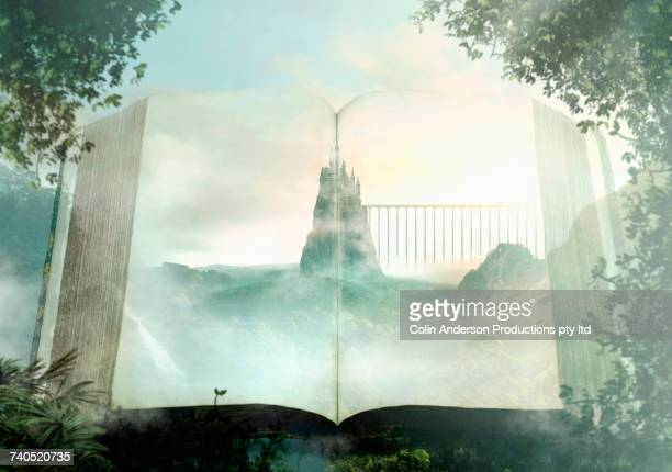 castle in storybook - fairytale stock pictures, royalty-free photos & images