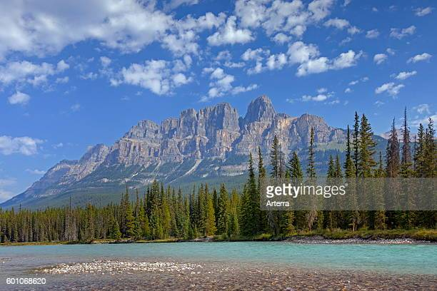 Castle Mountain and the Bow River Banff National Park Alberta Rocky Mountains Canada