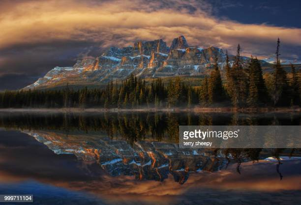 castle mountain - castle mountain stock photos and pictures