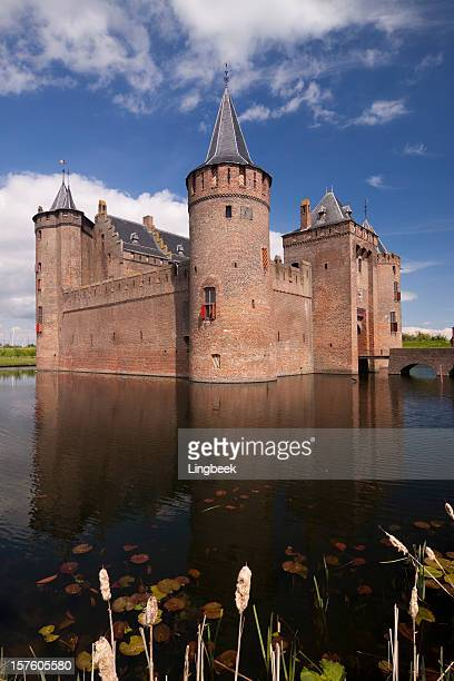 castle muiderslot - moat stock pictures, royalty-free photos & images
