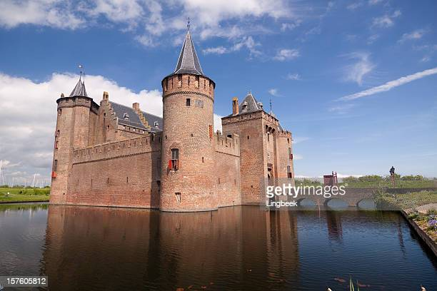 castle muiderslot - castle stock pictures, royalty-free photos & images