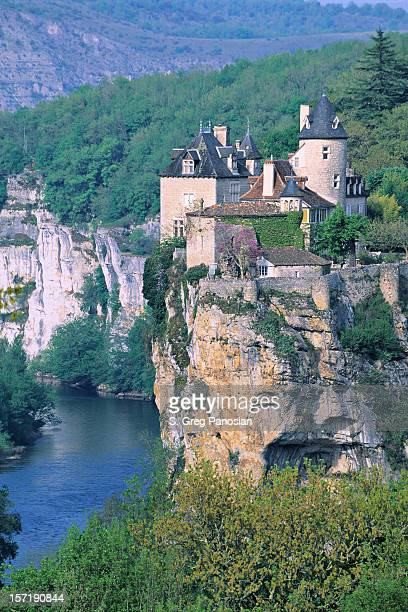 chateau de belcastel - aveyron stock pictures, royalty-free photos & images