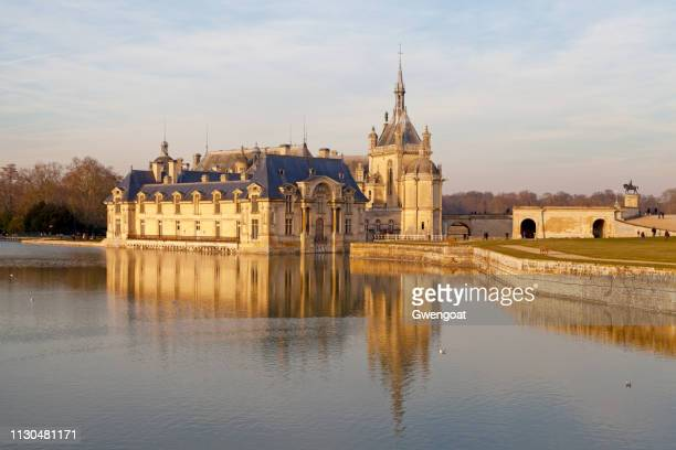 castle of chantilly - chantilly picardy stock pictures, royalty-free photos & images
