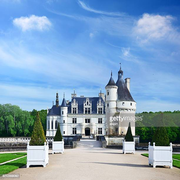 chateau de chenonceau - castle stock photos and pictures