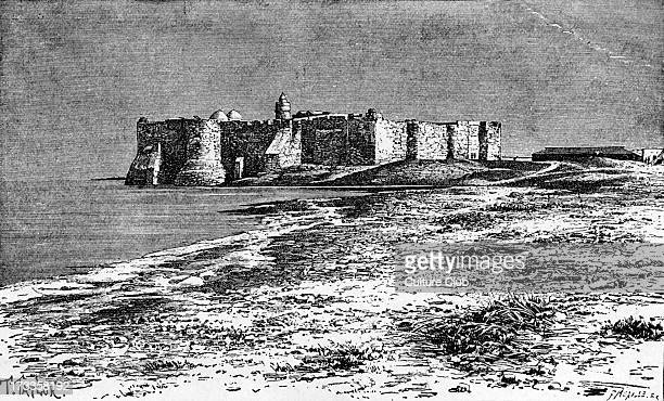 Castle of Djerba Island off the coast of Tunisia North AfricaB ackdrop for the Barbary corsairs