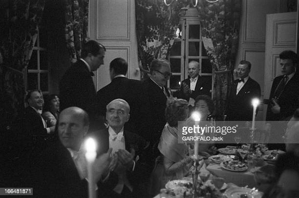 Castle Of Groussay Montfortl'Amaury 1011 mars 1957 Charles DE BEISTEGUI offre au ToutParis la première de son théâtre de poche qu'il a aménagé...