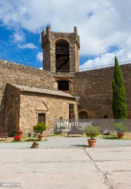 castle of montalcino - nook architecture stock pictures, royalty-free photos & images