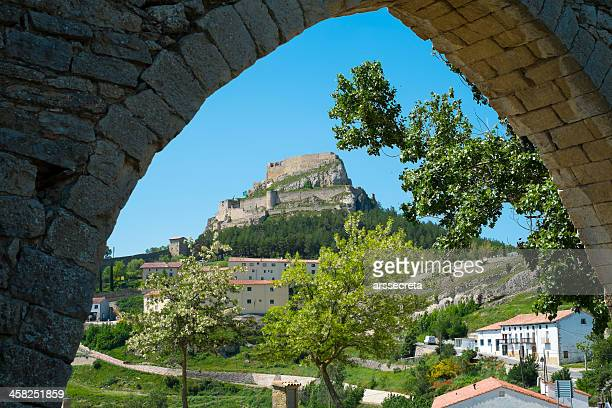 castle of morella - castellon province stock pictures, royalty-free photos & images