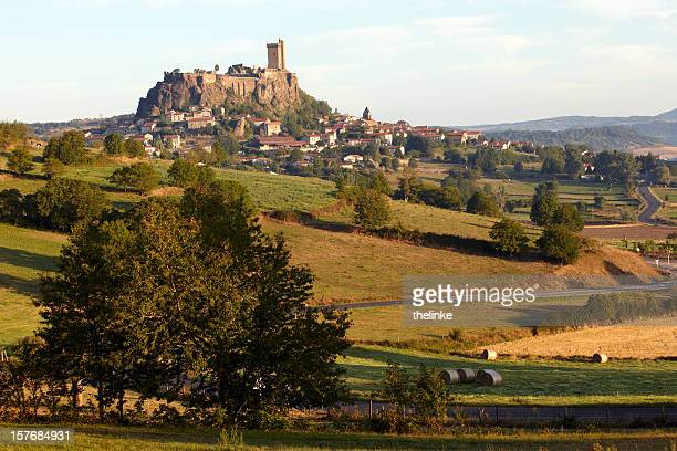 castle of polignac - le puy stock pictures, royalty-free photos & images