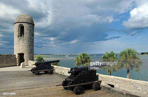 castillo de san marcos - st. augustine florida stock photos and pictures