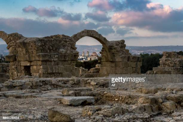castle of saranta kolones inkato paphos, paphos, cyprus - old ruin stock photos and pictures
