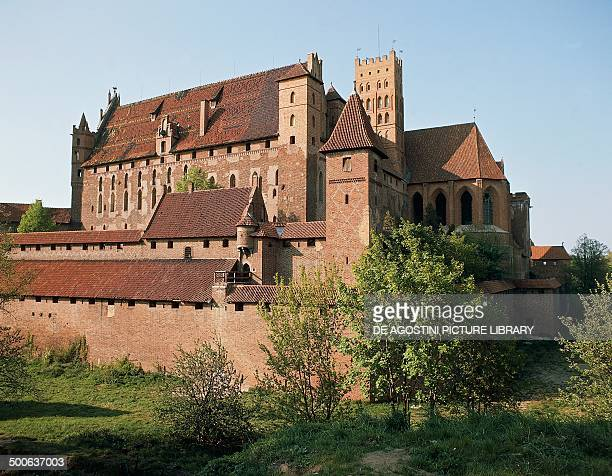 Castle of the Knights of the Teutonic Order 13th century Malbork Masuria Poland