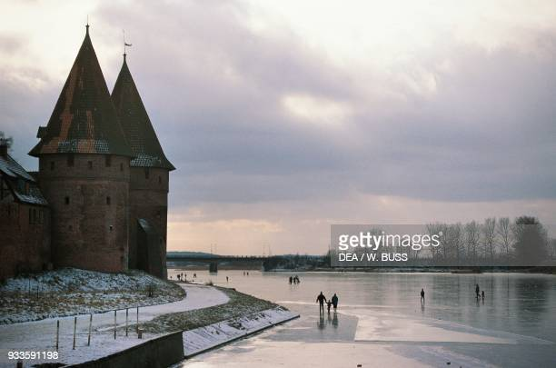 Castle of the Teutonic Order 13th century Malbork Mazury Poland