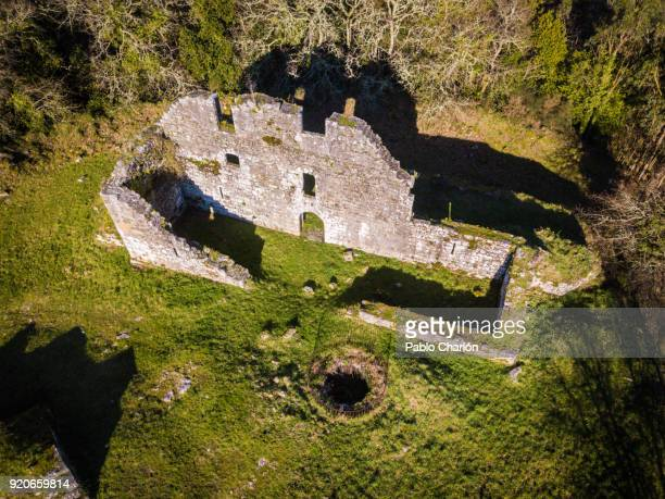 castle of torres de altamira, brión, a coruña, galicia, spain - provincia de a coruña fotografías e imágenes de stock