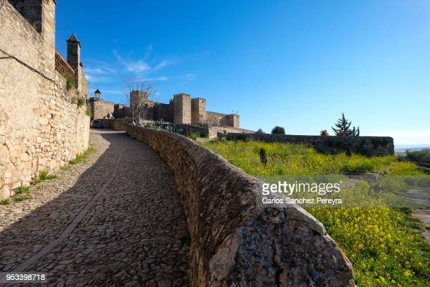 castle of trujillo in spain - caceres stock pictures, royalty-free photos & images