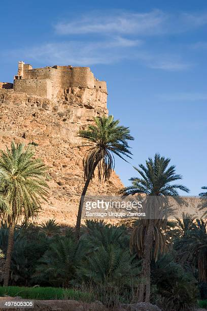 CONTENT] Castle on a cliff over the Berber oasis of Amtoudi SoussMassaDraa Morocco
