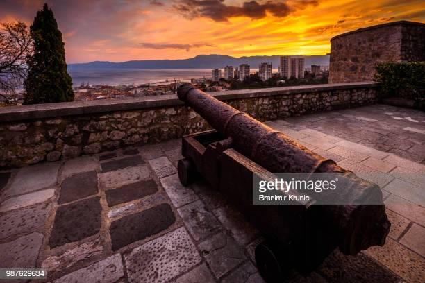 castle over rijeka - rijeka stock pictures, royalty-free photos & images