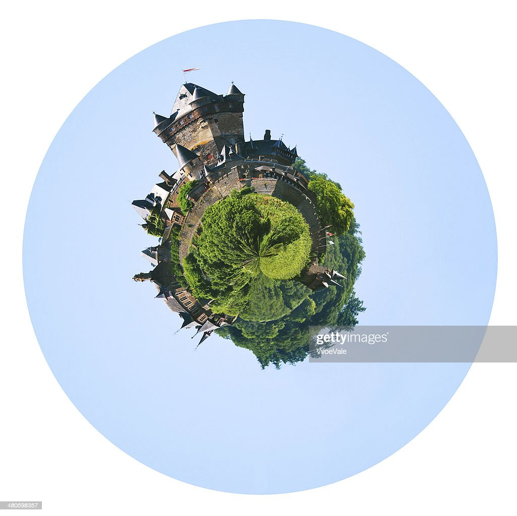 castle over town Cochem in Germany : Stock Photo