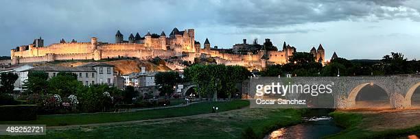 CONTENT] Castle panorama Carcassonne France