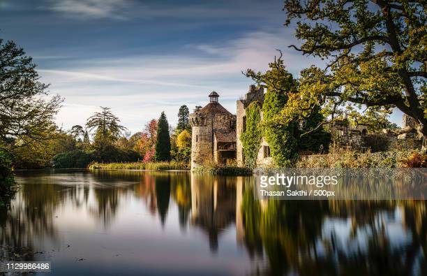 castle reflection - germany kent stock pictures, royalty-free photos & images