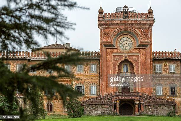 castle sammezzano in toscana, italia - castello foto e immagini stock