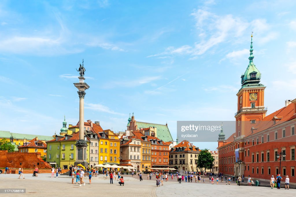 Castle Square of Warsaw : Stock Photo