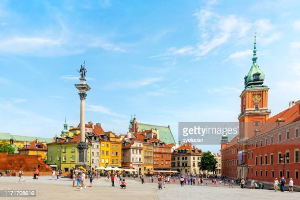 castle square of warsaw - syolacan stock pictures, royalty-free photos & images