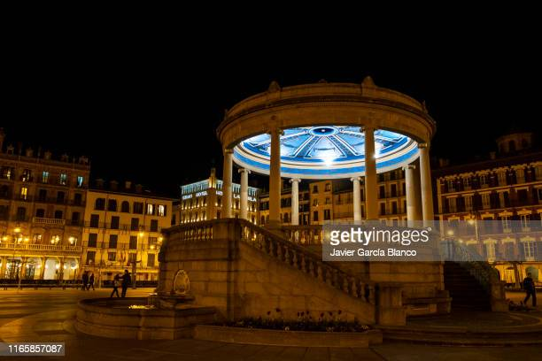 castle square, pamplona - pamplona stock pictures, royalty-free photos & images