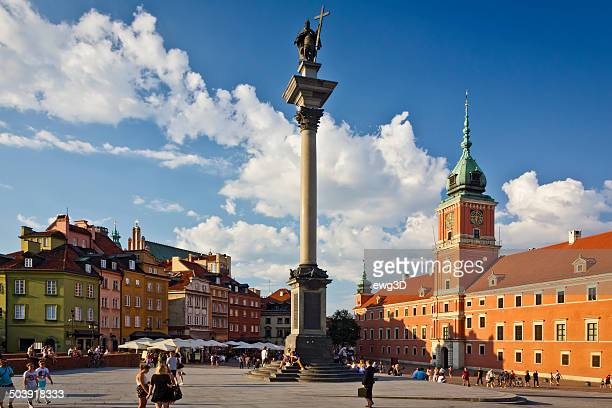 castle square, warsaw, poland - old town stock pictures, royalty-free photos & images