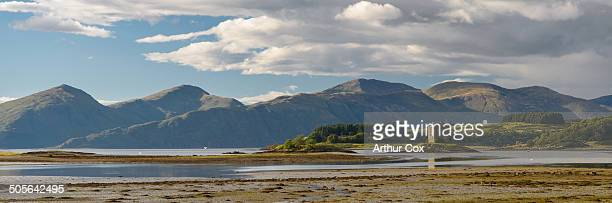 Castle Stalker is a four-storey tower house or keep picturesquely set on a tidal islet on Loch Laich, an inlet off Loch Linnhe.
