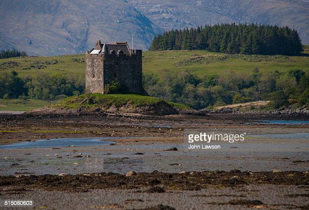 Castle Stalker is a four-storey tower house or keep picturesquely set on a tidal islet on Loch Laich, an inlet off Loch Linnhe. It is about 1.5 miles...
