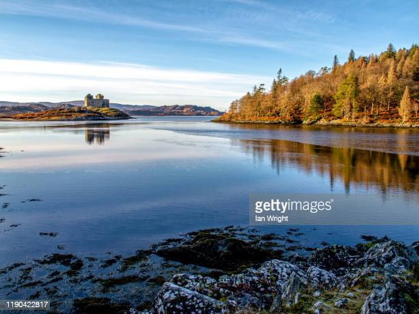 castle tioram acharacle, locharbour - moment of silence stock pictures, royalty-free photos & images