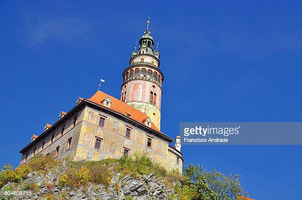 CONTENT] Castle tower of the city of Cesky Krumlov known for its medieval architecture and and her gothic style castle located in South Bohemia...