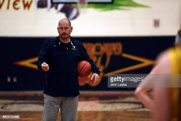 Castle View girls basketball head coach Matt Hema directs the players during practice on November 28 2017 at Castle View high school