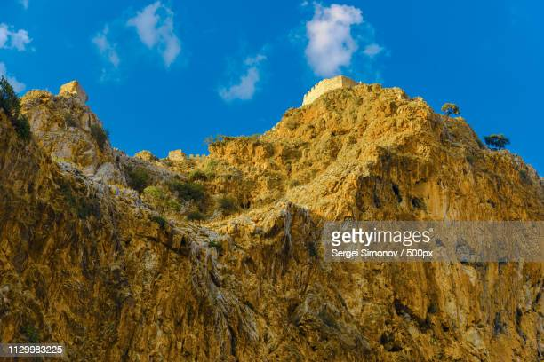 Castle Wall On Hill In Alanya