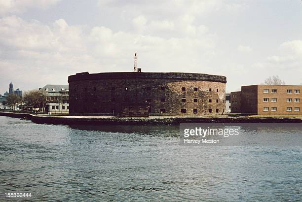 Castle Williams a circular fort on Governors Island Upper New York Bay circa 1970