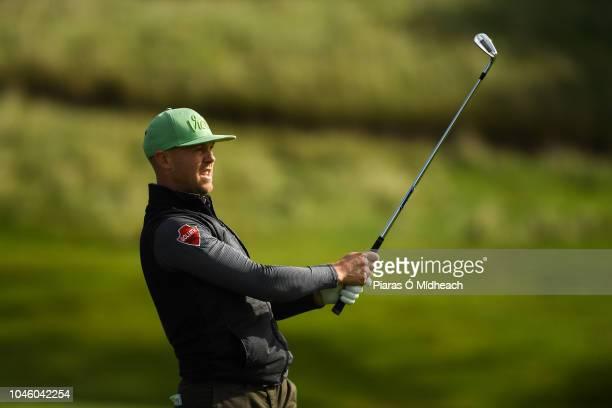 Castleblaney Ireland 5 October 2018 Brendan McCarroll of Ireland during The Monaghan Irish Challenge at Concra Wood Golf Club in Castleblaney Co...