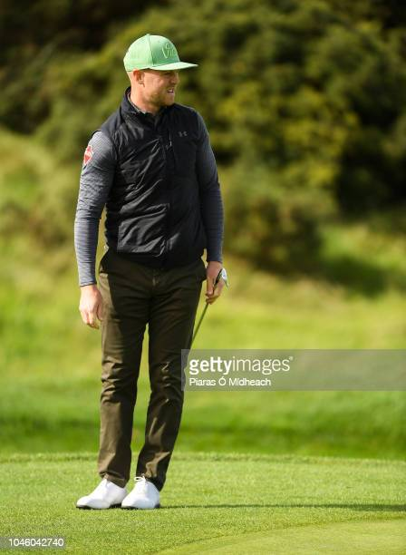 Castleblaney Ireland 5 October 2018 Brendan McCarroll of Ireland lines up a shot during The Monaghan Irish Challenge at Concra Wood Golf Club in...