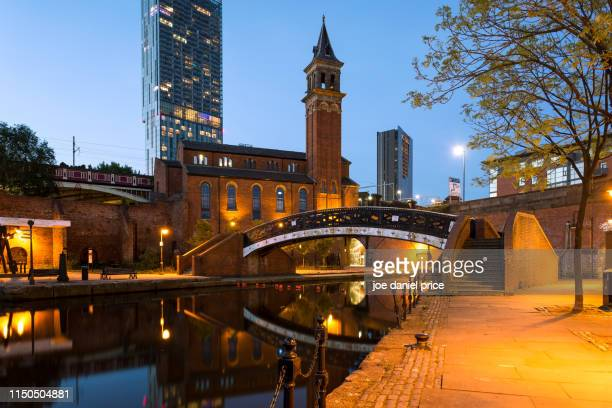 castlefield basin. deansgate, manchester, england - 英マンチェスター ストックフォトと画像