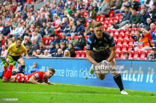 Castleford Tigers' Greg Eden scores his side's third try during the Dacia Magic Weekend Round 16 match between St Helens and Castleford Tigers at...